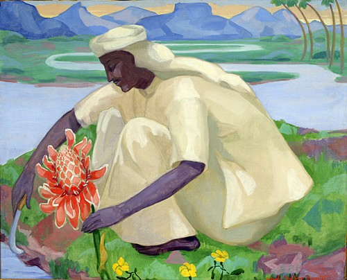 Achsah Barlow Brewster ,   The Flower  ,  Ca. 1922-23     Oil on canvas ,  30 x 37 in.