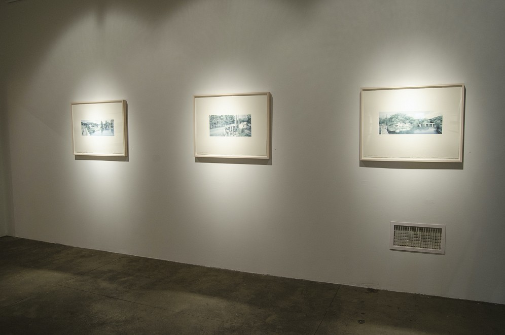 THE MAIDEN CREEK SERIES: New Watercolor Drawings by Matthew Daub - Installation View