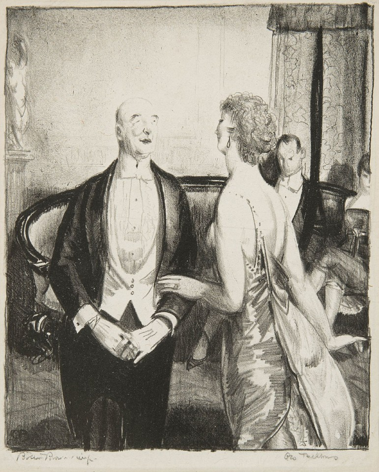 George Bellows ,   The Parlor Critic  ,  1921     Lithograph ,  8 1/2 x 7 in.