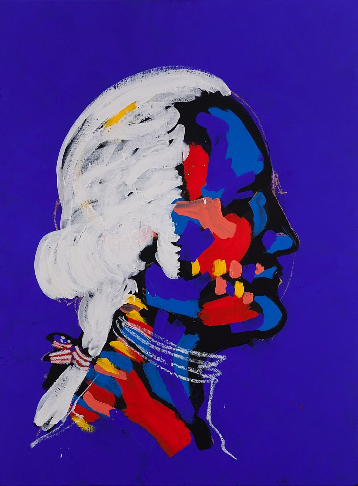 Bradley Theodore ,   Young President  ,  2015     Acrylic and oil stick on canvas ,  40 x 30 in.