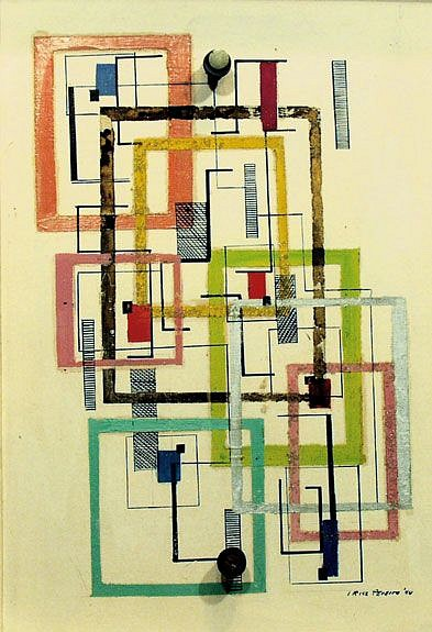 Irene Rice Pereira ,   Untitled  ,  1944     Mixed media ,  16 1/4 x 12 in.
