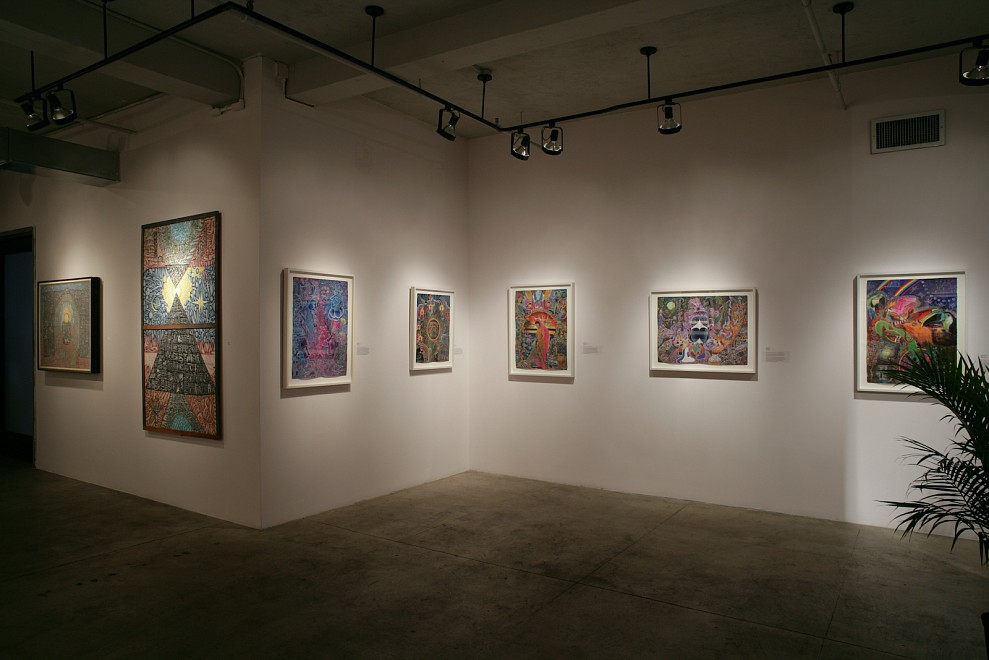 Shamanic Illuminations: The Art of Pablo Amaringo, Alex Grey and Mieshiel - Installation View