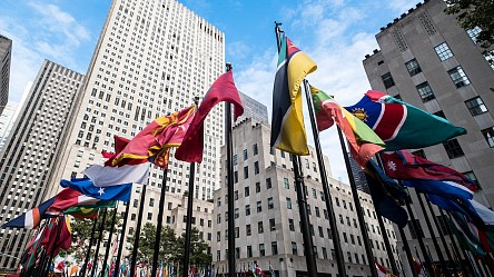 News: New Yorkers invited to design iconic Rockefeller Center flags, May 18, 2020 - 6sqft, Devin Gannon